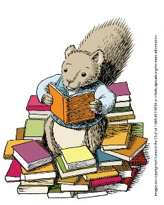 Squirrel with Books_copyright embedded